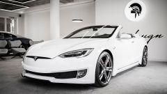 """Tesla Model S Cabriolet, l'unico esemplare è """"Made in Italy"""" - Immagine: 2"""