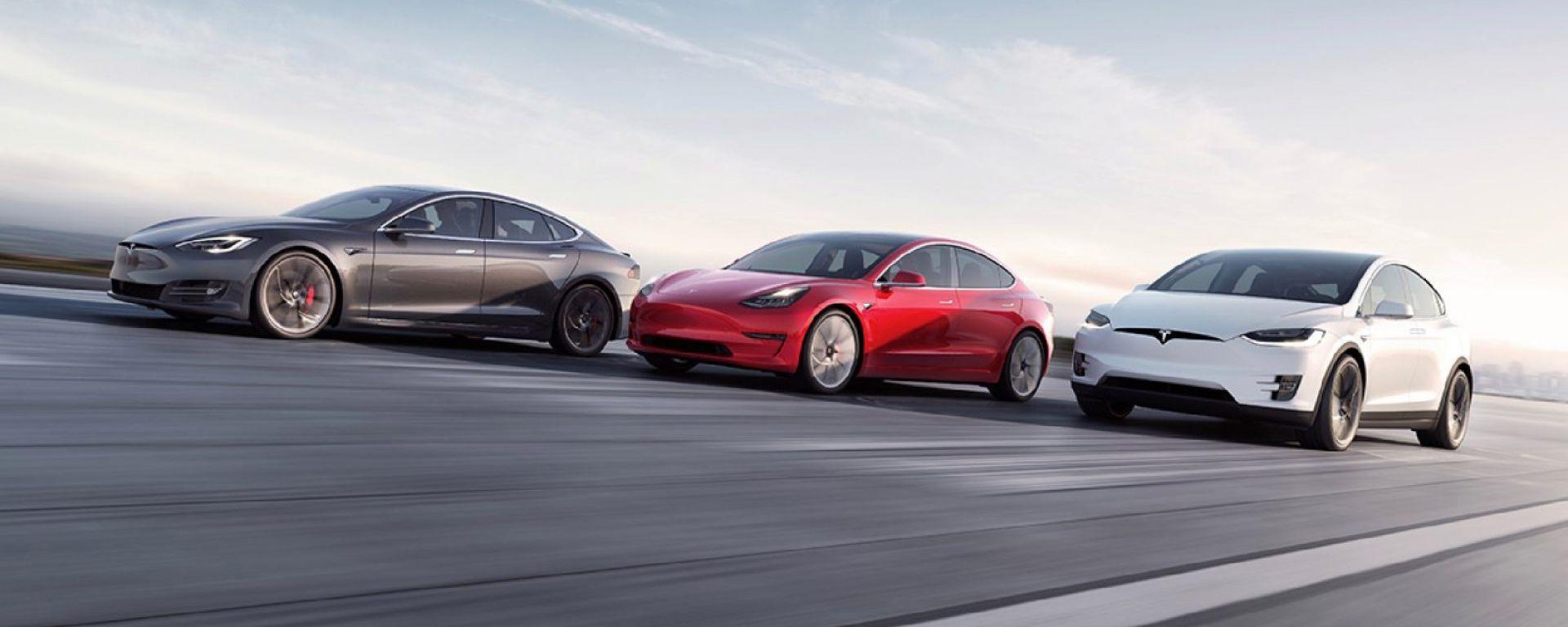 Tesla Model S, Model 3 e Model X