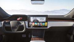 Tesla Model S Plaid alla Pikes Peak: la plancia del modello di serie