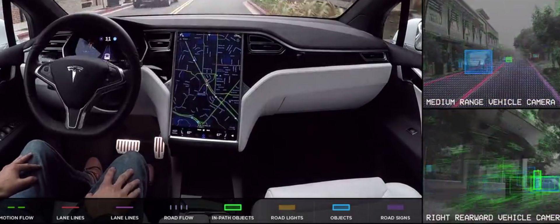 Tesla Model S protagonista di un nuovo video sulla guida autonoma