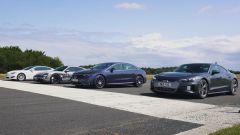 VIDEO: Mercedes EQS vs Audi e-tron GT vs Taycan vs Tesla Model S