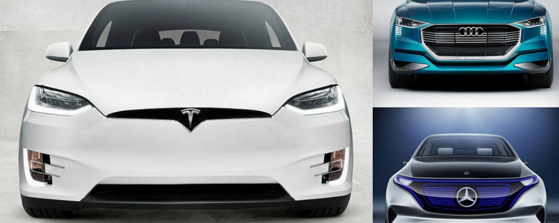 Tesla Model X, a confronto con le nuove concorrenti Audi e-tron e Mercedes EQC