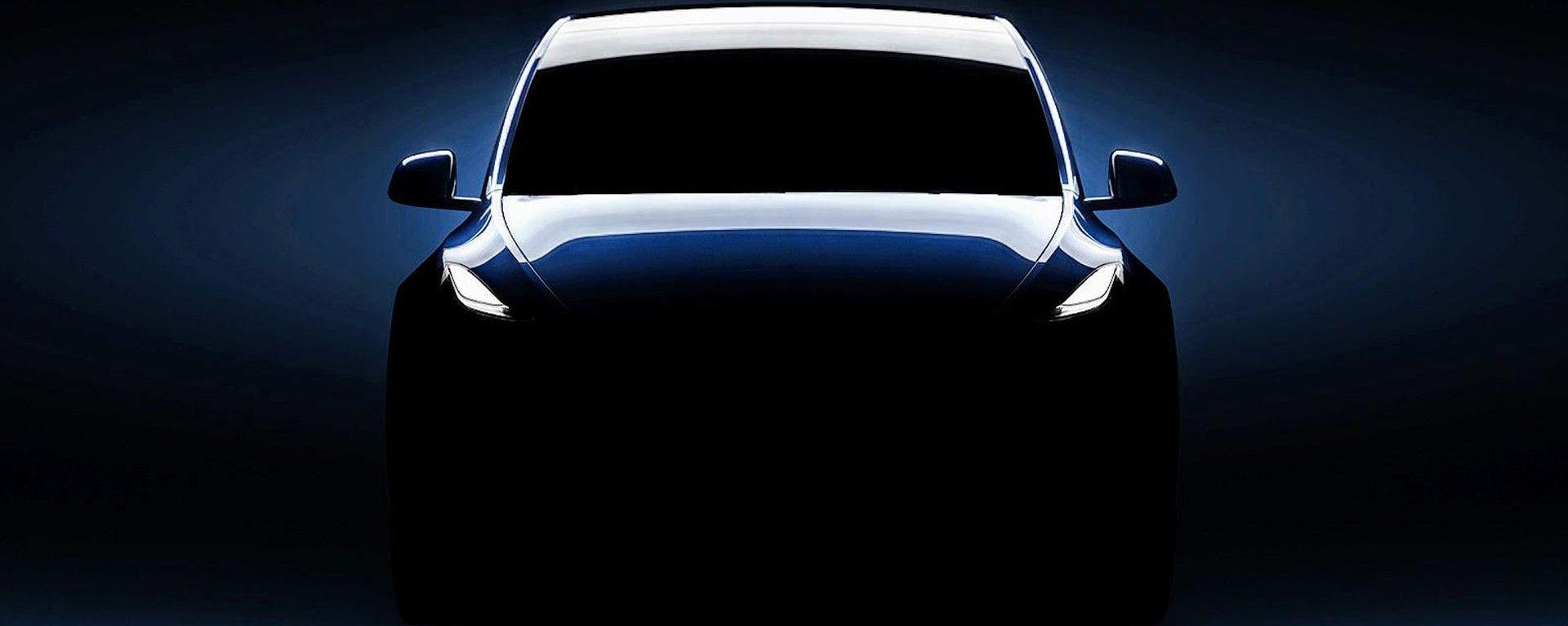 Tesla Model Y, vista frontale