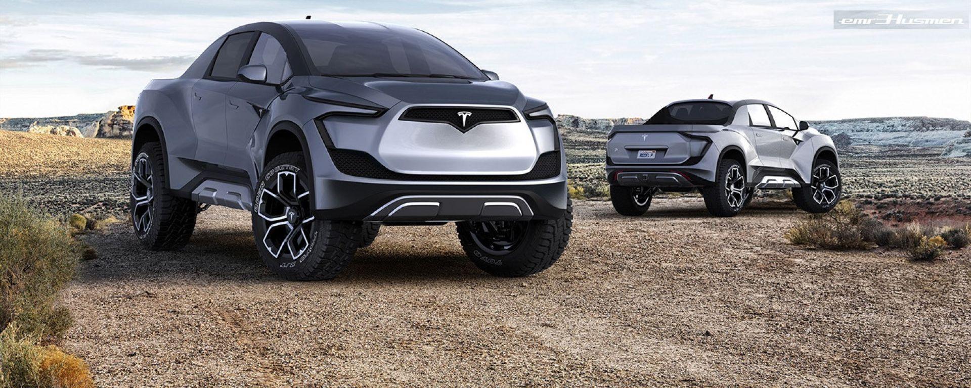 Tesla Pickup, rendering di Emre Husmen