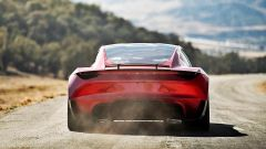 Tesla Roadster 2020: vista posteriore