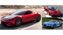 Tesla Roadster 2020 vs Lamborghini, Ferrari & C: drag race virtuale