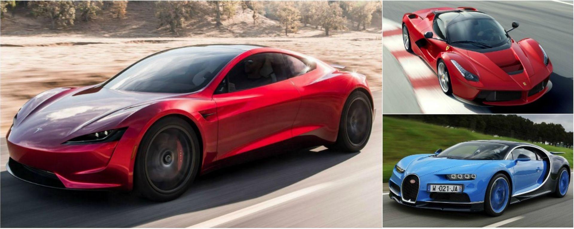 Tesla Roadster 2 vs tutti: la drag race virtuale