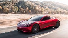 Tesla Roadster: dettaglio anteriore