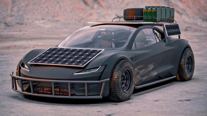 Tesla Roadster Off-Roader frontale