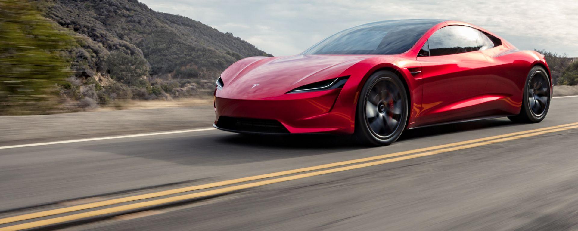 Tesla Roadster: vista 3/4 anteriore