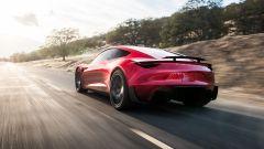 Tesla Roadster: vista 3/4 posteriore