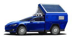 Tesla Roamer: il tetto è estensibile ed è dotato di pannelli fotovoltaici