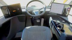 Tesla Semi: l'abitacolo