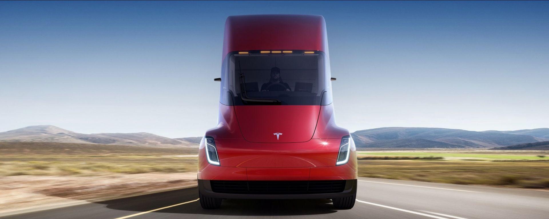 Tesla Semi: vista frontale