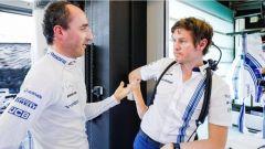 Test Abu Dhabi 2017, Robert Kubica a colloquio con gli ingegneri Williams