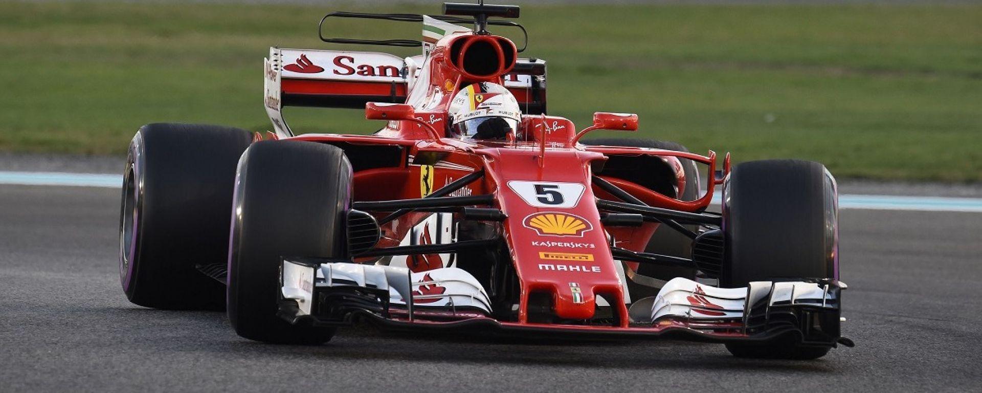 Test Abu Dhabi 2017, Sebastian Vettel