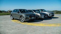 Audi Q3 vs Range Rover Evoque vs Lexus UX prova video