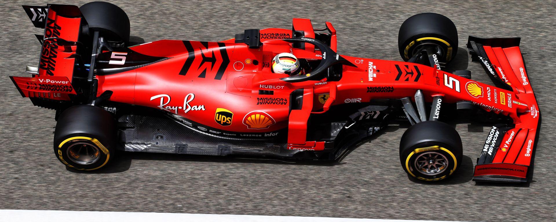 Test Barcellona 2019, Sebastian Vettel (Ferrari)