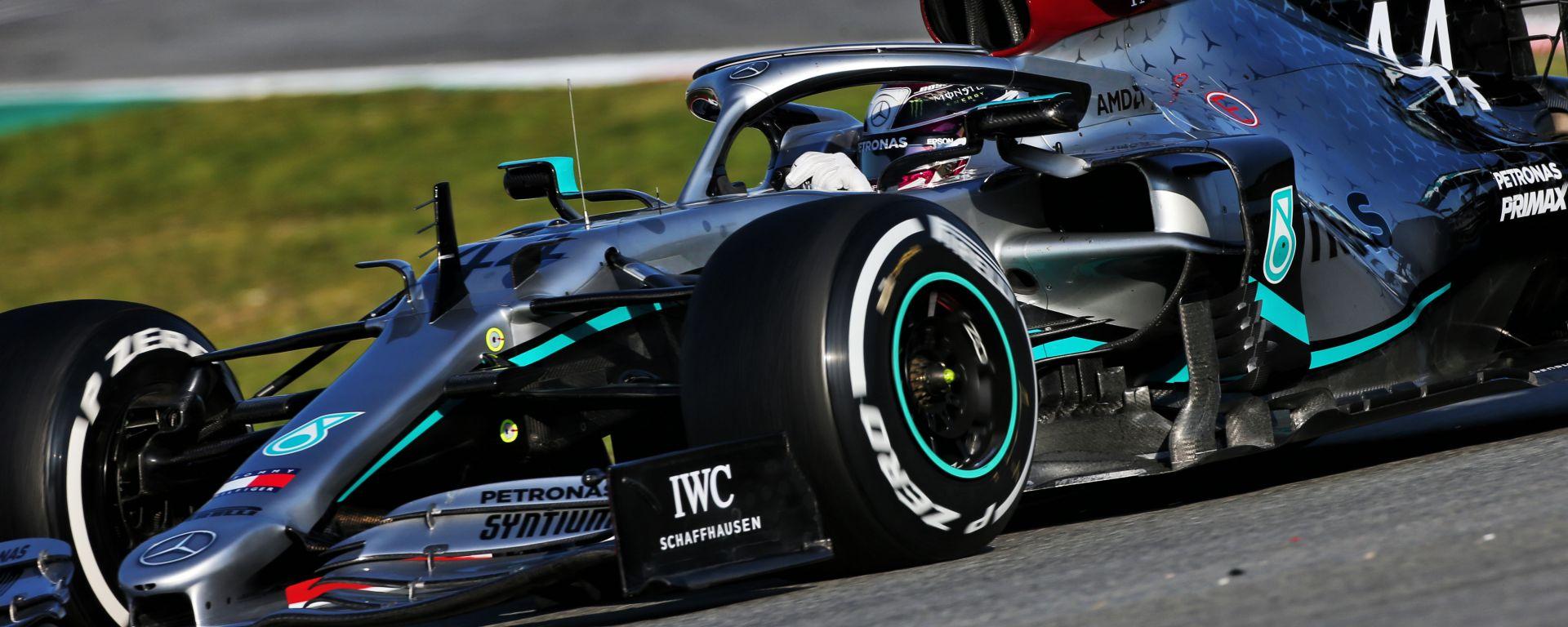 Test Barcellona F1 2020, Lewis Hamilton (Mercedes)