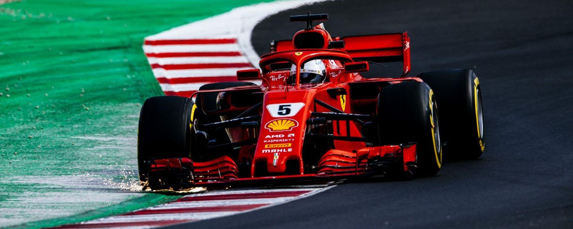 Test Barcellona: le più belle immagini della Ferrari SF71H