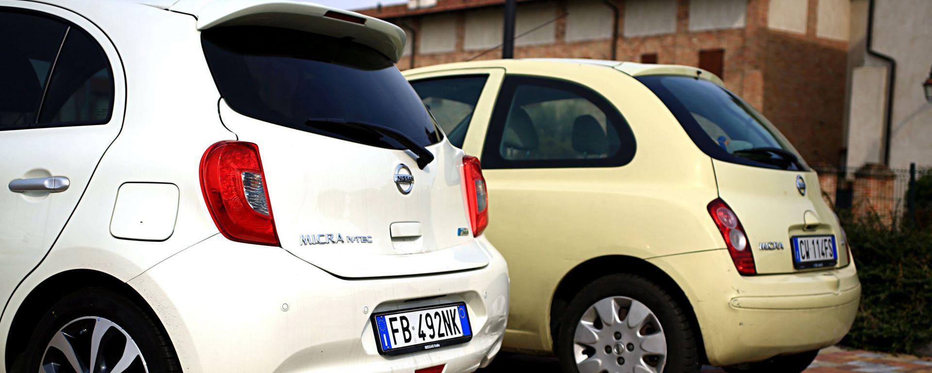 Nissan Micra vs Nissan Micra: generazioni a confronto