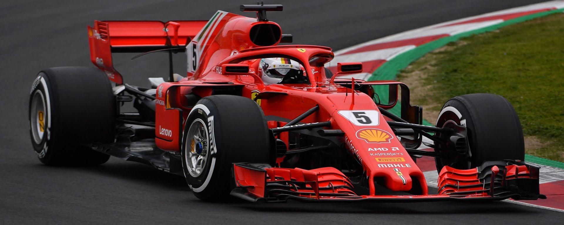F1 2018, Test Barcellona, Day 2: Vettel porta in vetta la Ferrari davanti a Mercedes e McLaren ...