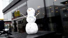 Test F1 2018 Barcellona Day 3, il pupazzo di neve della Mercedes