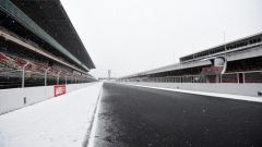 Test F1 2018 Barcellona Day 3, pista innevata
