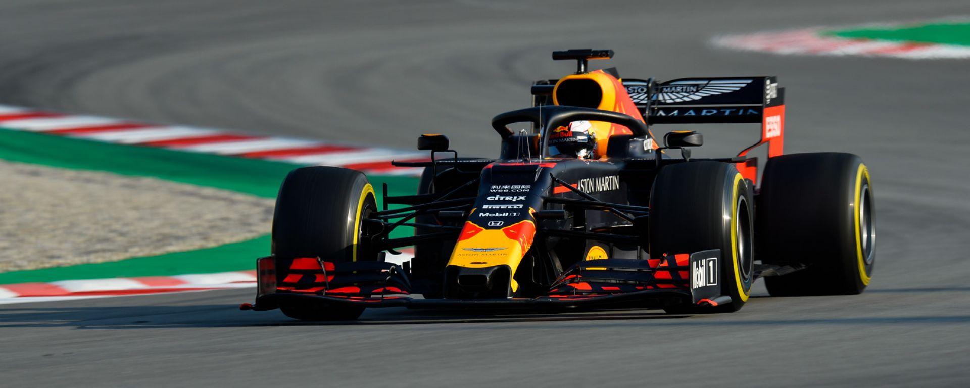 Test F1 2019 Barcellona, Max Verstappen sulla RB15