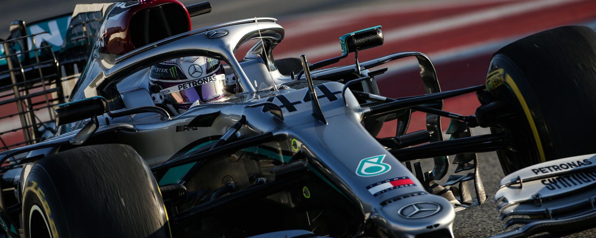 Test F1 2020 Barcellona, Lewis Hamilton (Mercedes)