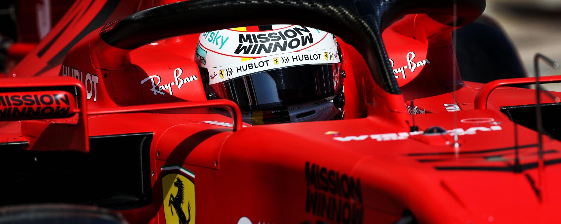 Test F1 2020 Barcellona, Sebastian Vettel (Ferrari)
