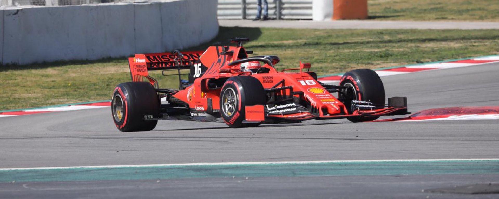 Test F1 Barcellona-2, day 3: Charles Leclerc (Ferrari)