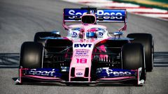 Test F1 Barcellona-2, day 3: Lance Stroll (Force India)
