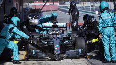 Test F1 Barcellona-2, day 3: Lewis Hamilton (Mercedes)
