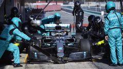 Test F1 Barcellona-2, day 4: Lewis Hamilton (Mercedes)