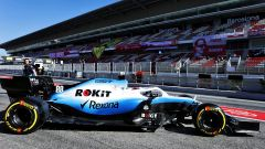 Test F1 Barcellona-2, Kubica esce dai box Williams