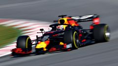 Test F1 Barcellona-2, Max Verstappen su Red Bull RB15