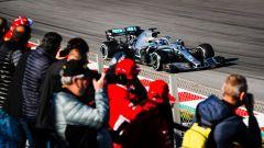 Test F1 Barcellona-2, Valtteri Bottas sulla Mercedes