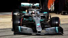 Test F1 Barcellona 2019, Lewis Hamilton (Mercedes)