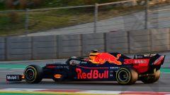 Test F1 Barcellona 2019, Max Verstappen in azione con la Red Bull