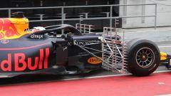 Test F1 Barcellona 2019, un dettaglio della griglie sulla Red Bull di Verstappen