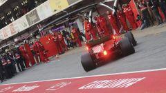 Test F1 Barcellona 2019, Vettel rientra ai box Ferrari