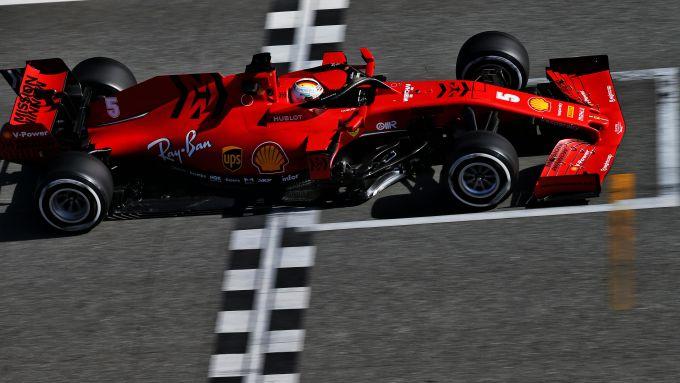 Test F1 Barcellona 2020, Ferrari SF1000, Sebastian Vettel