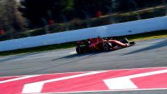 Test F1 Barcellona, Charles Leclerc in azione con la sua Ferrari