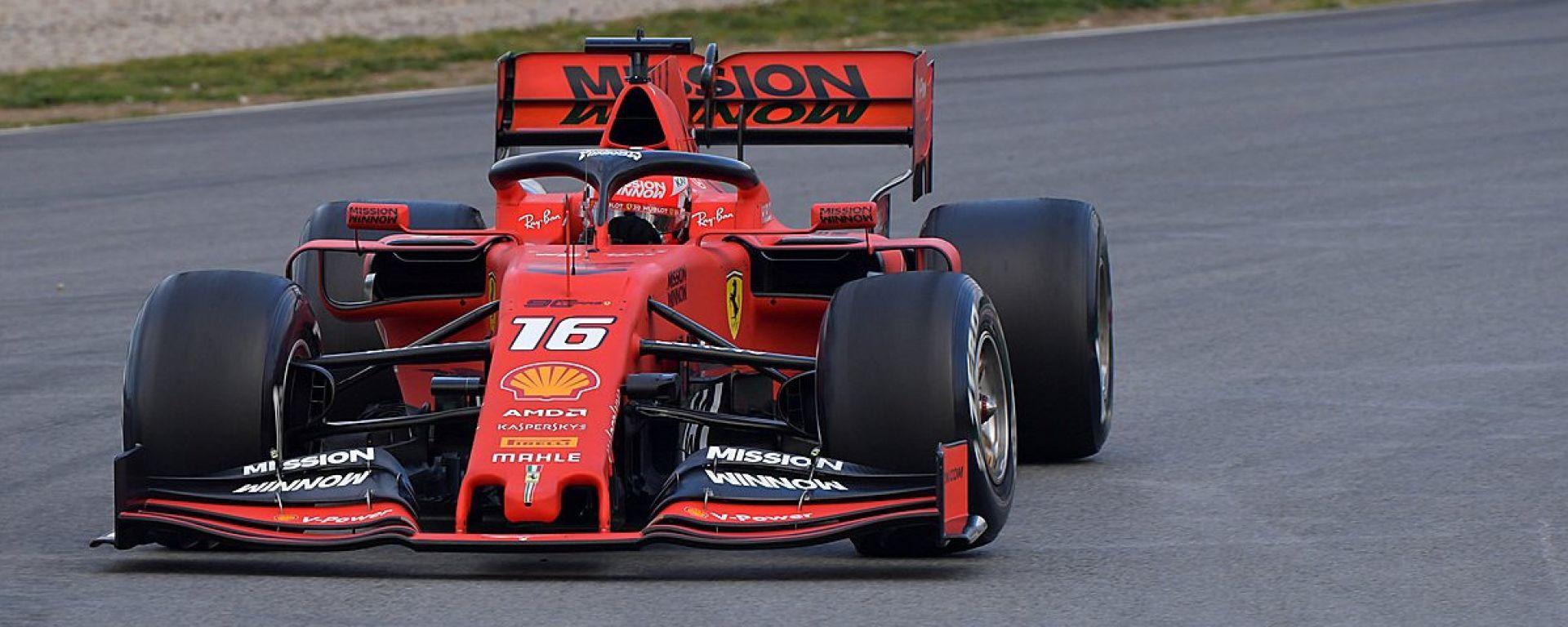 Test F1 Barcellona, day-2. Leclerc imita Vettel, Giovinazzi 3°