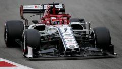 Test F1 Barcellona, Kimi Raikkonen in azione con la sua Alfa Romeo