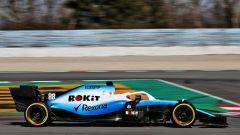 Test F1 Barcellona, Robert Kubica al volante della Williams