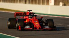 Test F1 Barcellona, Sebastian Vettel (Ferrari)