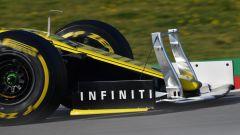 Test F1 Barcellona, sensori sull'ala della Renault di Hulkenberg