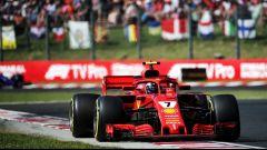 Test Hungaroring 2018, Kimi Raikkonen in azione con la Ferrari